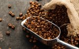 covered coffee beans